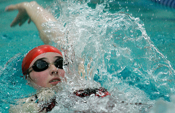 Wenham: Masco's Madison Kelly competes in the Medley against Hamilton-Wenham at Gordon College's Bennett Center pool. Photo by Mark Lorenz/Salem News