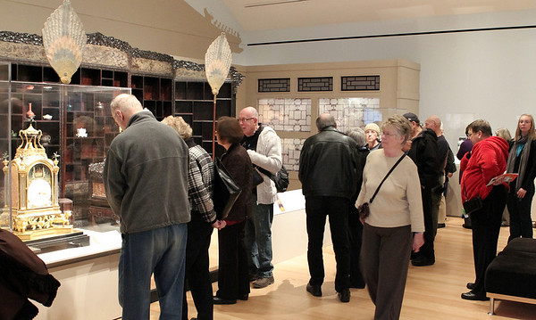 Salem: The Emperor's Private Paradise: Treasures from the Forbidden City which is on view till January 9, at Peabody Essex Musuem, was very popular this week drawing large crowds. Photo by Mark Lorenz/Salem News