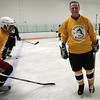 Peabody: Rick Middleton before the start of 3 on 3 hockey at Pro Skills Training. Photo by Mark Lorenz/Salem News