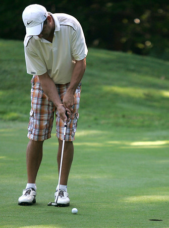 Boxford: Rich Fitzgerald, at the second hole, during the North Shore Amateur Golf Tournament, which took place at Far Corners Golf Course. Photo by Mark Lorenz/Salem News<br /> , Boxford: Rich Fitzgerald, at the second hole, during the North Shore Amateur Golf Tournament, which took place at Far Corners Golf Course. Photo by Mark Lorenz/Salem News