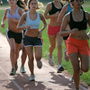 Beverly: Beverly High School cross-country captain, Irene Carrozza (middle) ,during Friday morning track work outs with her team. Photo by Mark Lorenz/Salem News<br /> , Beverly: Beverly High School cross-country captain, Irene Carrozza (middle) ,during Friday morning track work outs with her team. Photo by Mark Lorenz/Salem News
