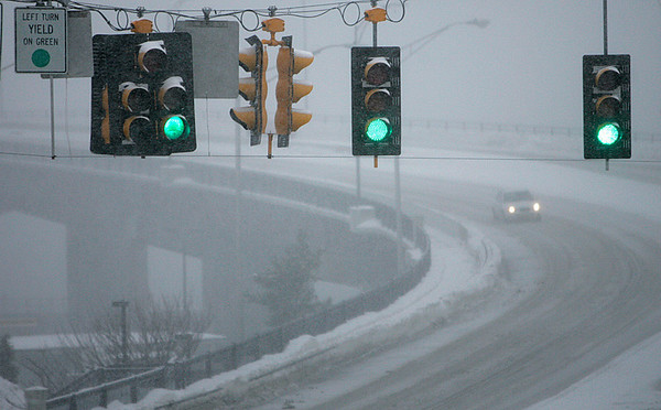 Beverly: A car makes it's way across the bridge between Salem and Beverly. Photo by Mark Lorenz/Salem News