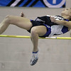 "Peabody: Peabody's Sarah May clears 4'10"" in meet against Beverly. Photo by Mark Lorenz/Salem News"
