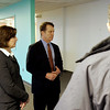 Beverly: Tamie Thompson and Peter Richardson, of Jones Lang LaSalle, speak about the former Artari building located at 50 Dunham Rd. Signature Office Park is redeveloping the building. Stephen Steinberg, (back to camera) also of Jones Lang LaSalle was on the tour as well. Photo by Mark Lorenz/Salem News