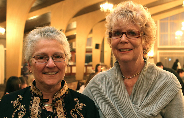 Danvers: Fran Weil and Susan Fletcher, at the Danversport Yacht Club. The Danvers Committee for Diversity held it's 11th Annual Danvers Drum Majors for Justice Awards ceremony. Photo by Mark Lorenz/Salem News