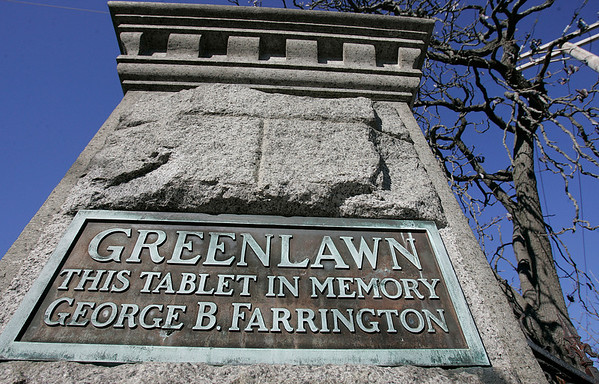 Salem: Entrance to Greenlawn Cemetery off of Orne Street, Salem is running out of room. Photo by Mark Lorenz/Salem News