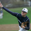 Marblehead: Swampscott starting pitcher Tom Keenan cranks out a fastball.  photo by Mark Teiwes
