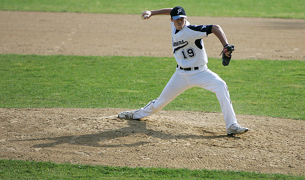 Peabody: Peabody High ace pitcher, Joe Gruntkosky during game against Beverly in the second inning. Photo by Mark Lorenz/Salem News