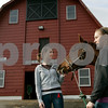 Danvers: Essex Aggie won the 2009 Horse Farm of Distinction from the Massachusetts Farm Bureau. Seniors Rebecca Holt, left, of Peabody and Keelinn Powers of Beverly are two students who are part of the program.  Photo by Mark Lorenz/Salem News