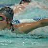 Wenham: Erica Ciulla of Hamilton-Wenham in the Medley in meet at Gordon College's Bennett Center pool, against Masco Regional high School. Photo by Mark Lorenz/Salem News