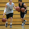 Hamilton: Jake Lindland works out during warm-ups with teammate, Jake Prince. The Generals are off to a 6-0 start this season. Photo by Mark Lorenz/Salem News