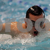 Danvers: St. John's Prep swimmer, Bob Dannenmiller practices the butterfly, during Wednesday morning practice at the Danvers YMCA. St. John's Prep are going for their fourth straight state swimming championship Friday night.Photo by Mark Lorenz/Salem News