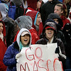 Foxboro: Masconomet fans cheer on their team in Div IIA Superbowl against Marshfield, at Gillette Stadium. Photo by Mark Lorenz/Salem News