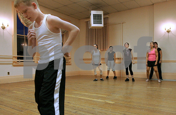 Salem: Dancers take part in Chris Rossi's hip hop class at Gene Murray's Studio in Salem. Photo by Mark Lorenz