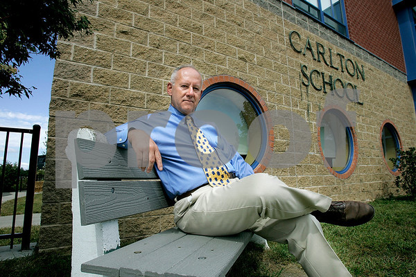 Salem: Carlton School principal Philip Burke, was called back to duty, this time for Hurricane Gustav. Burke has also served two tours of duty in Iraq.<br /> Photo by Mark Lorenz/Salem News September 2, 2008.