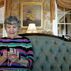 Salem: Brookhouse Home resident, Mary Lou Neff relaxes while crocheting. The home will be celebrating its 150th birthday.  Photo Mark Lorenz/Salem News