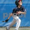 Bristol: Peabody West Matt Correale, watches as he hits a single in , game against Rhode Island for the New England Finals. Peabody defeated Rhode Island 11-7. Photo by Mark Lorenz/Salem News