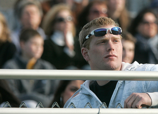 Beverly: Thomas Smith a graduate of Pingree School watches Pingree School play Brooks School in the Clark/Francis Bowl as part of NEPSAC playoffs, played at Endicott College. Pingree defeated Brooks 7-6. Staff by/Mark Lorenz