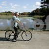Peabody: A cyclist uses the new bikeway in Peabody. Photo by Mark Lorenz/Salem News