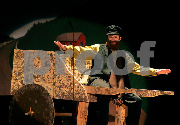 "Peabody: Matthew Trainor, who plays Tevye in Bishop Fenwick's production of, ""Fiddler on the Roof,"" rehearses Thursday morning. The play will open Friday & Saturday at 7pm and Sunday at 2pm. Photo by Mark Lorenz/Salem News"