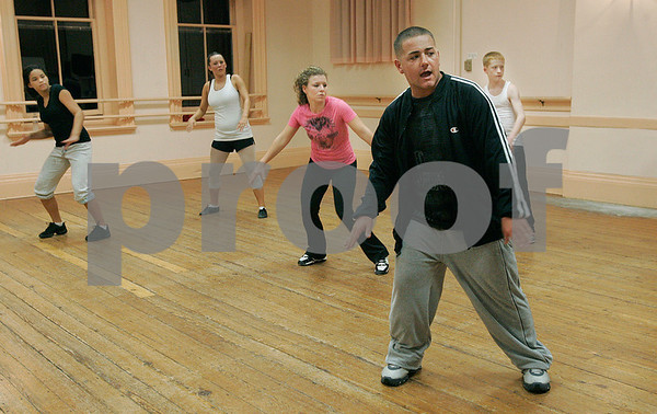 Salem: Chris Rossi leads a hip hop dance class at Gene Murray Studios in Salem. Photo by Mark Lorenz/Salem News