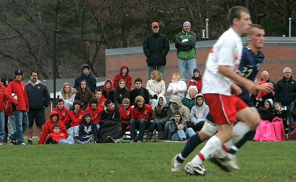 Topsfield: Masconomet Regional High School fans watch the varsity boys soccer in Division 1 quarterfinals against Lincoln-Sudbury. Staff photo/Mark Lorenz