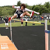 Ipswich: Hamilton-Wenham track star Jackson MacDonald in boys high jump in meet at Ipswich High. Photo by Mark Lorenz/Salem News