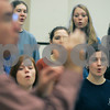 Ipswich: Ipswich High School chorus teacher, Jeffrey Patch conducts his students during rehearsal. Photo by Mark Lorenz/Salem News