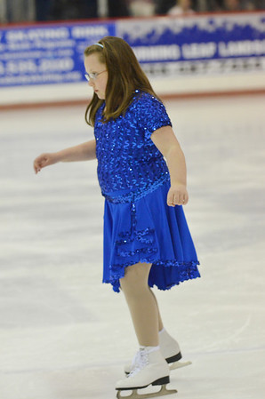 Peabody: Ashley Lacavita, 7, of Peabody, skates at the Peabody Skating Club's 36th annual Ice Show. photo by Mark Teiwes