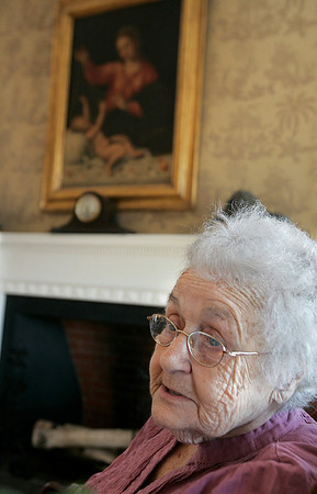 Salem: Irma Milton, who has been living at the Brookhouse Home since June 2010 talks about the living there.The home will be celebrating its 150th birthday.  Photo Mark Lorenz/Salem News