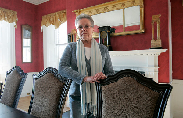 Salem: Eleanor Soucy, past president of the Brookhouse Home, was the first residence for senior women in Salem. The home will be celebrating its 150th birthday.  Photo Mark Lorenz/Salem News