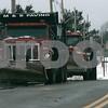 Danvers: Snow plows take a break from plowing on Endicott Street, Danvers. Photo by Mark Lorenz/Salem News