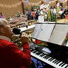 Beverly: Joe Boccia, performs Christmas songs during the annual First Baptist Church's church fair. Boccia a church member has been performing at the church fair for twenty years. Photo by Mark Loren/Salem News