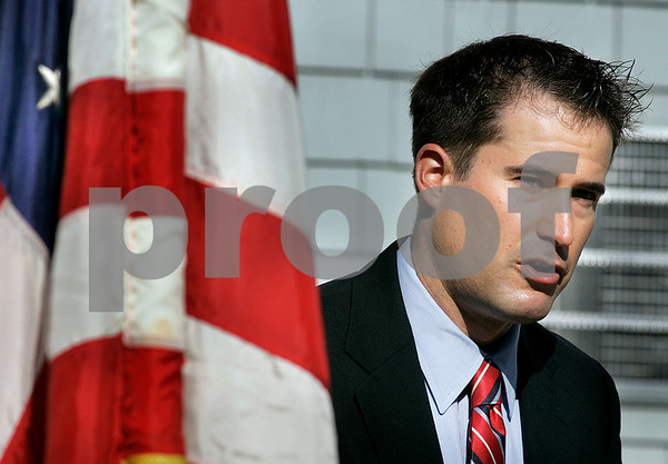 Peabody:  USMCR, Seth Moulton who was a Special Assistant to Commanding General Petraeus speaks at Woodbridge Assisted Living , during a September 11th Memorial. Moulton served four tours of duty in Iraq. Photo by Mark Lorenz/Salem News
