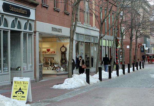 Salem: The city is looking at different design scenarios for Essex Street Pedestrian Mall.  Photo by Mark Lorenz/Salem News