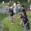 Danvers: The Endicott Park pond hosted the catch and release Mike Gordon Fishing Derby.   photo by Mark Teiwes / Salem News