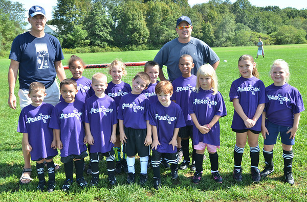 The Peabody Youth Soccer Team Holland is ready for a match.