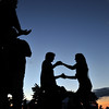Iswich: Couples dance as dusk falls on Castle Hill's Summer Picnic Concert Series.  photo by Mark Teiwes / Salem News