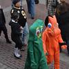 Salem: Gumby and Pokey walk hand-in-hand down Essex Street.  photo by Mark Teiwes / Salem News