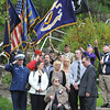 Salem: The Verrette family gathered together at the dedication of a memorial stone honoring Philias J. Verrette for his involvement in World War II. photo by Mark Teiwes / Salem News