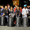 Salem:   Collins School eight grade music drums stomp style during the parade. photo by Mark Teiwes / Salem News