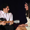 Danvers: Danvers High School students Stephanie Costa, right, plays Julia Gulia is the lead love interest of wedding singer Robbie, played by Charles Bramesco, left.  photo by Mark Teiwes / Salem News