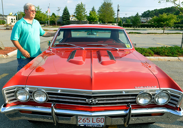 Beverly: Paul Meehan brought his 1967 Chevelle Super Sport for cruise night at the American BBQ   photo by Mark Teiwes / Salem News