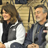 Ipswich:  Debby Wile-Taves and Butch Taves smile during a humorous section as Mike Girard reads from his book.  photo by Mark Teiwes  / Salem News