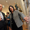 Salem: Mayor Kim Driscoll shows Governor Deval Patrick Salem Wharf plans.