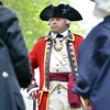 Salem: British General Thomas Gage, played by re-enactor Michael Lepage of Foxboro, leads the the British Army in Salem.  General  Gage was appointed as the new governor of Massachusetts, and was ordered in 1774 to move the legislature from Boston to Salem.  photo by Mark Teiwes / Salem News