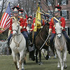 Salem: The Massachusetts Lancers participate in a parade celebrating the 374th anniversary of the first muster on Salem Common.  photo by Mark Teiwes / Salem News