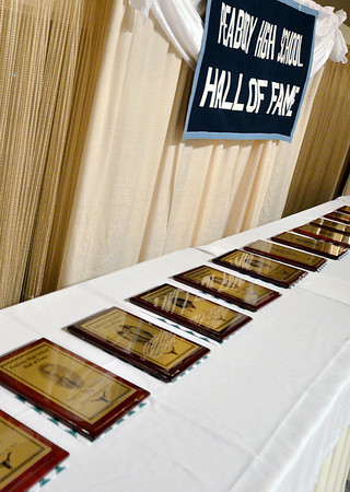 Peabody: 22 people were inducted into the Peabody High School hall of fame this year.  photo by Mark Teiwes / Salem News