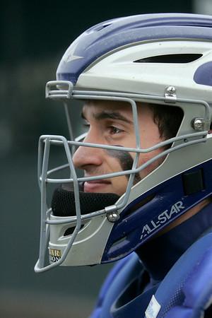 Marblehead:   Swampscott's catcher Matt Videtta.  photo by Mark Teiwes