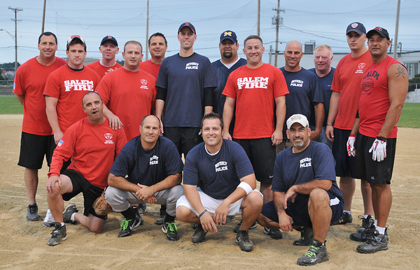 Beverly: Beverly public service workers took on the Salem Fire Department in a softball game for a Beverly Homecoming event.  photo by Mark Teiwes /  Salem News